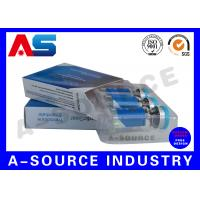 China Anti - Fake Steroid Injection Laser 10ml Vial Storage Boxes Panton Blue And White Color wholesale