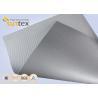 China Silver Grey Fiberglass Fire Resistant Welding Blanket Silicon Rubber Colored Fiberglass Cloth wholesale
