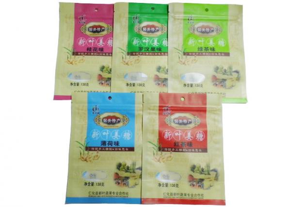 Quality Custom Printed Snack Packaging Bags / Zipper Pouches For Packing Food Back seal bag for sale