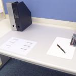 Extra Large Transparent Pvc Computer Desk Elbow Pad , Table Placemat
