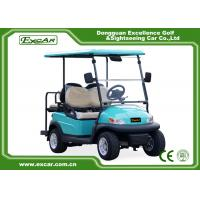 China Front / Rear 4 Seats Electric Golf Carts , Battery Powered Electric Caddy Carts wholesale