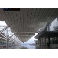 China OEM Accepted Linear Metal Ceiling , Metal Suspended Ceiling Weather Resistance wholesale