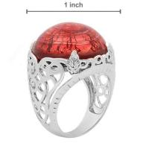 China CUSTOM CZ AAAA, AAAAA murano glass rings opal / garnet / fleur de lis jewelry  wholesale