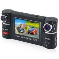 China Dual cameras Car DVR 2channel recorder at the same time wholesale