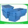 China Contenedores de almacenamiento plásticos resistentes encajables euro, caja plástica con la tapa con bisagras hermética wholesale