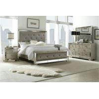 China Wooden Design King Size Mirrored Bed, Dresser Mirrored Bedroom Furniture Set wholesale