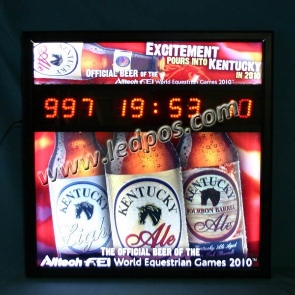 Quality KENTUCKY Beer LED Countdown Display for sale