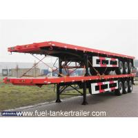 China 30-50ton 3 axle 40ft container flatbed semi trailer with container lock wholesale