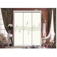 China Custom Printed Kitchen Cabinet / Wardrobe Interior Sliding Door With ISO9001 wholesale