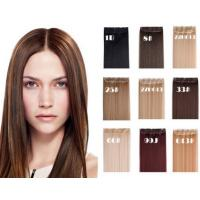 China Bright Blonde Synthetic Human Hair Extensions No Chemical Processed Virgin Hair wholesale