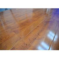 China Natural High Density Glueless Wood Decorative Laminate Flooring in Bedroom / Office,Shiny Finish wholesale