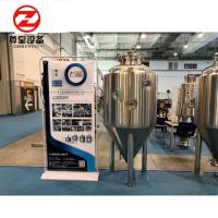 China SS304 / 316 / Copper Cone Bottom Fermenter PU Foam With CIP Cleaning System wholesale