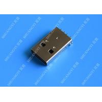 Buy cheap USB 2.0 A Male USB Charging Connector , Plug Jack Mounting Solder 4 Pin PCB Connector from wholesalers