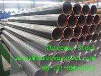 China Larger Diameter Welded LSAW Pipe Painted and galvanized on sale