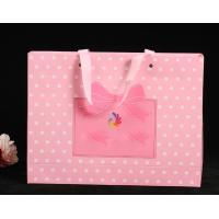 China Delicate Custom Printed Paper Bags / Pink Paper Carrier Bags For Toys / Jewelry wholesale