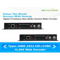 China MPEG-4 AVC / H.264 HDMI CVBS Video Digital TV Encoder Support Web Protocol wholesale