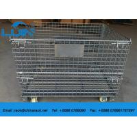 China Collapsible Assemble Wire Mesh Cages Storage , AS4084 Approval Metal Wire Cage wholesale