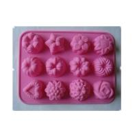 China Portable Easy Clean 100% Food Grade Silicone Kitchenware 8 Cups Flower Shaped Cake Mold wholesale
