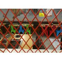 China Decoration Expanded Aluminum Mesh , 0 . 4mm Thickness Red Coating Expanded Mesh wholesale