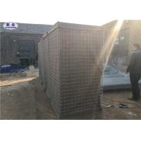 Welded Wire Mesh Gabion Hesco Bassion Sand Filled Type Beige Geotextile Cloth