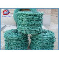 Buy cheap Galvanized 4 Points Double Strand Barbed Wire , PVC Coated Barbed Wire from wholesalers