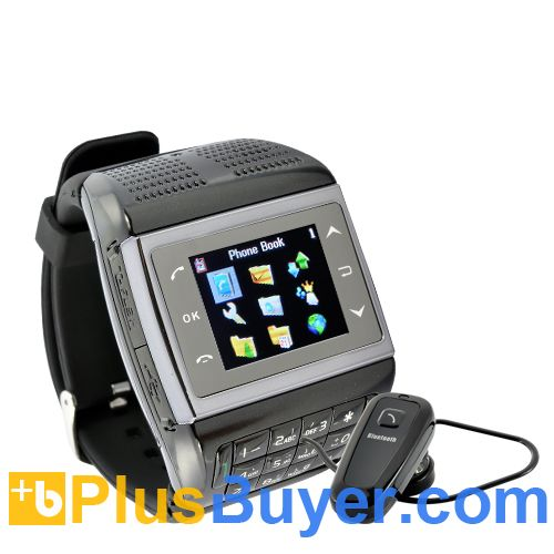 Panther - 1.3 inch Touchscreen Mobile Phone Watch with Keypad
