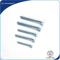 China DIN571 Zinc Coated, Carbon Steel, Full Thread Hex Wood Screw Lag Bolt wholesale