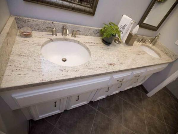 Quality Indian Kashmir White Granite Countertops , Commercial Granite Kitchen Worktops Dishwasher for sale