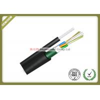 China Figure 8 Self Supporting Outdoor Fiber Optic Cable For Aerial With Steel Tape on sale