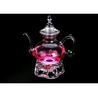 China BPA Free Glass Teapot With Infuser Filter Herbal Tea Leaf Strainer Kettle 1200ml on sale