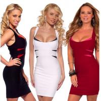 China Stylish Bandage Dresses Clubwear , White Night Club Sexy Party Dresses wholesale