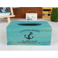 China Retro Style Wooden Home Furnishing Tissue Storage Box on sale