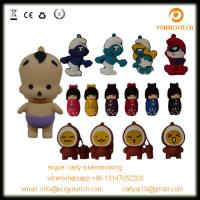 China various silicon PVC usb pendrive little child usb flash drive cartoon usb disk wholesale
