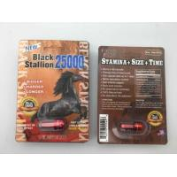 China Plastic Capsule Herbal Male Enhancement Pills Black Stallion 25000 3D Sex Products on sale