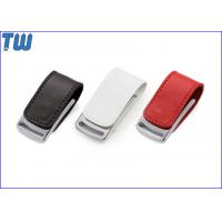 China Gadget Metal Body 32GB Pen Drives Leather Cover Magnet Connect wholesale
