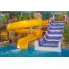 Colourful Kids Fiberglass Water Slides for Amusement Water Playground