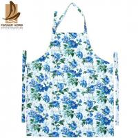 Flower Printed Twill Weave Fabric Personalized Cooking Aprons Fashionable Aprons
