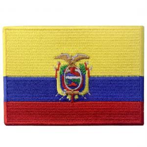 China Edge Lock White Merrow Flag Custom Woven Badges Embroidered Polyester wholesale
