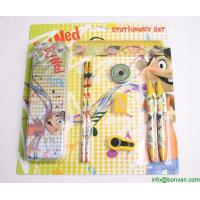 China School supplies wholesale kids stationery set packed in paper gift box,gift stationery set wholesale