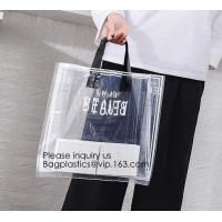 China Manufacturer Custom Logo Transparent Clear PVC Plastic Portable Packaging Promotional Gifts Shopping Tote Bag, bagease on sale