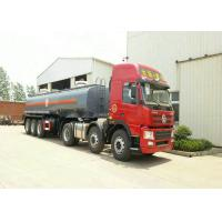 China 3 Axles Spring Suspension Chemical Tanker Truck For 33CBM Sodium Hypochlorite NaOCl on sale