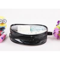 China Customized Black Clear PVC Bag , Ladies Toiletry Bag With Handle wholesale
