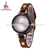 China Fashion design 32mm ladies watch Leather strap Sunshine dial best gift watch for ladies on sale