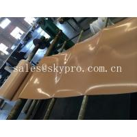 China Natural gum rubber sheet roll tan color high tensile strength for punching seals / washer wholesale