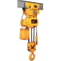 China Low Headroom Electric Chain Hoist , Low Noise Motorised Chain Block With Trolley on sale
