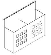 suspended steel pen box for workstation,#F5