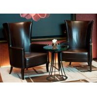 China Leisure Leather Chair Modern Lobby Furniture For 5 Star Hotel Public Area on sale