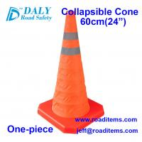 60cm Orange Collapsible Traffic Safety Cones for sale for road,street,hazard,driving,construction and no parking cones