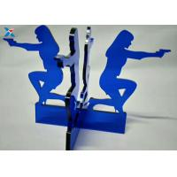 China Blue Acrylic Shapes Craft / Acrylic Stand For Office Decoration Gifts on sale