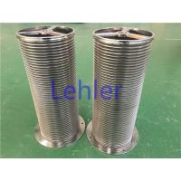 China Vertical Wire Wrapped Screen With Smooth Wire Surface For Self - Cleaning Filter wholesale